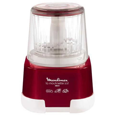 DP805G La Moulinette XXL Mini Tritatutto Capacità 0.55 Litri + Frullatore Capacità 1.5 Litri Potenza 1000 Watt Colore Bianco / Rosso