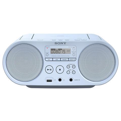 SONY - Stereo Portatile ZS-PS50 Lettore CD Supporto MP3   WMASintonizzatore  FM   AM Ingresso Audio USB colore Blu 4355d79eff8f