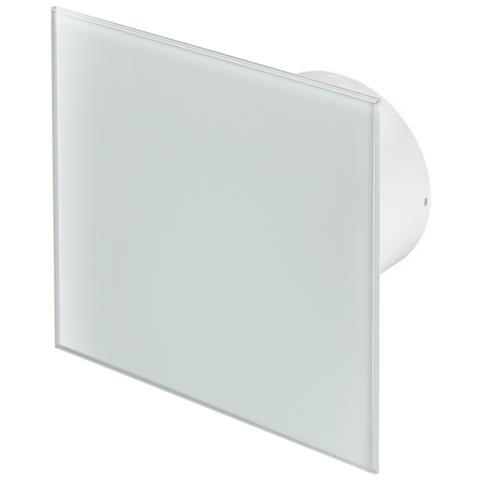 100mm Standard Aspiùatore Vetro Bianco Pannello Frontale Trax Parete Soffitto Ventilatore