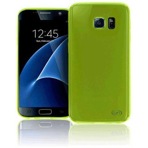 FONEX Inv Cover Ultra Sottile 0,2 mm in Morbido TPU per Galaxy S7 Edge Colore Verde Trasparente