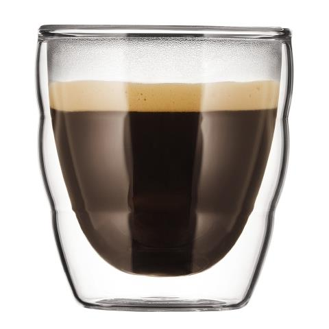 Set 2 bicchieri Doppia parete 0.08 l Trasparente