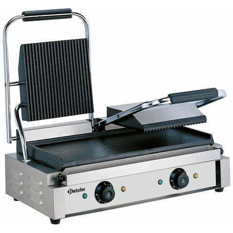 A150673 Piastra grill elettrica doppia scanalata / liscia 220V 3.6 kW