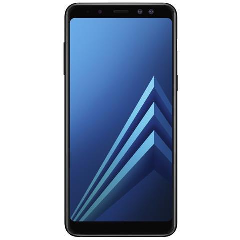 "SAMSUNG Galaxy A8 (2018) Nero 32 GB 4G / LTE Dual Sim Impermeabile Display 5.6"" Full HD Slot Micro SD Fotocamera 16 Mpx Android Italia"