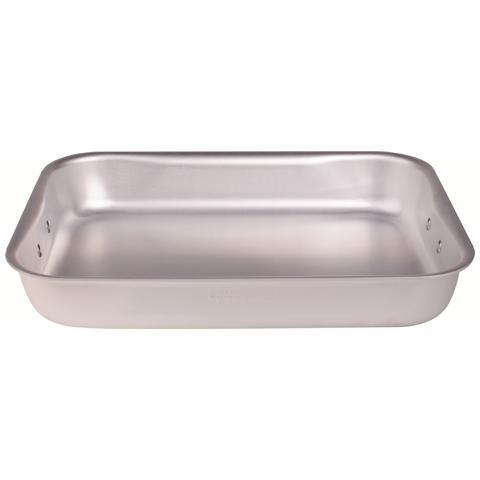 AGNELLI Rostiera Rettangolare Bassa Dimensioni 40x28 cm - Linea Alluminio 3 mm