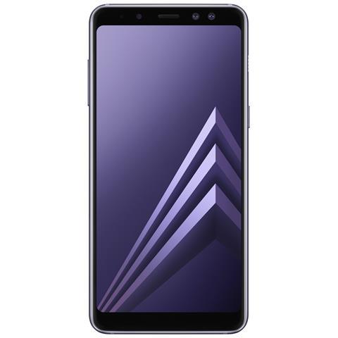 "SAMSUNG Galaxy A8 (2018) Grigio 32 GB 4G / LTE Dual Sim Impermeabile Display 5.6"" Full HD Slot Micro SD Fotocamera 16 Mpx Android Italia"