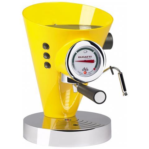 Macchina Caffé Espresso Manuale Diva Capacità Serbatoio 0,8 Litri Potenza 950 Watt Colore Giallo