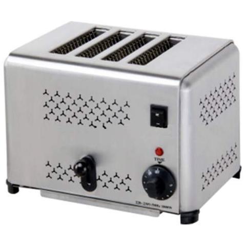 Tostapane A 4 Fette Tostiera Toaster - Espulsione Automatica E Timer Risto Bar
