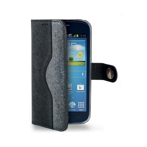 CELLY black wallet onda case for core plus