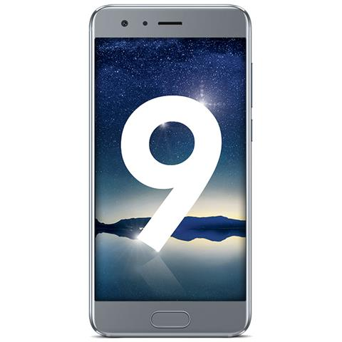 "HONOR 9 Argento 64 GB 4G / LTE Dual Sim Display 5.2"" Full HD Slot Micro SD Fotocamera 20 Mpx Andro"