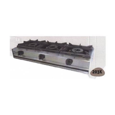 Fornellone A Gas Professionale 3 Fuochi Cm 104x40x20 Rs0882