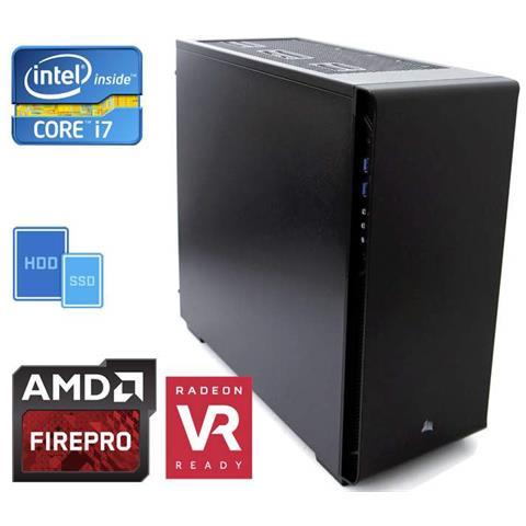 Image of Pc Cad Station Intel Core I7-7700 (4core) +16gb+2.5tb (500ssd+2.0tb) +amd Firepro W4300/4gb