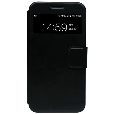 MEDIACOM Flip Smart Cover per PhonePad Duo G512 Nero