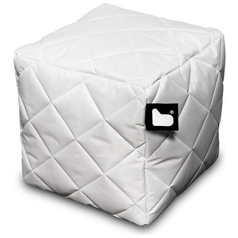 B-BAG Pouf Outdoor B-box White Trapuntato