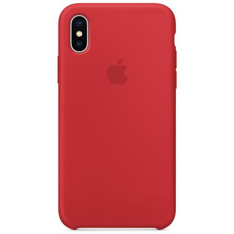 APPLE Cover in Silicone per iPhone X Colore Rosso