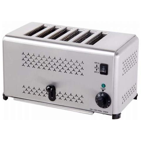 Tostapane A 6 Fette Tostiera Toaster - Espulsione Automatica E Timer Risto Bar