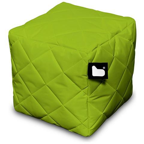 B-BAG Pouf Outdoor B-box Lime Trapuntato