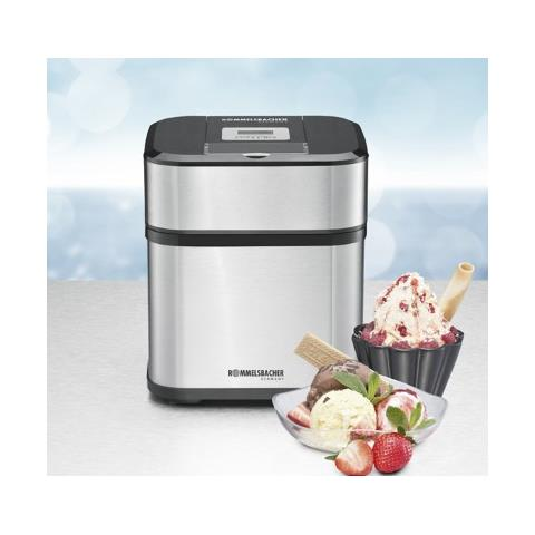 IM 12 Gelatiera tradizionale 1.5L 12W Nero, Acciaio inossidabile macchina per gelato