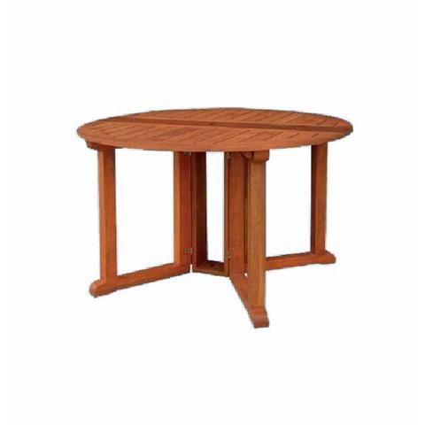 Tavolo da giardino rotondo in legno massello 120x73 cm