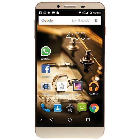 "MEDIACOM PhonePad Duo X555U Oro 16 GB 4G/LTE Dual Sim Display 5.5"" Full HD Slot Micro SD Fotocamera 16 Mpx Android Italia"