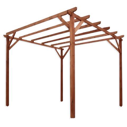 Image of Pergola impregnata in legno di pino per giardino m 3x3