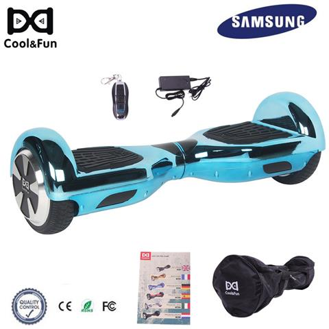 Image of 6.5'' Chrome Hoverboard Self Balance Smart Monopattino Elettric Scooter Blu Christmas Gift