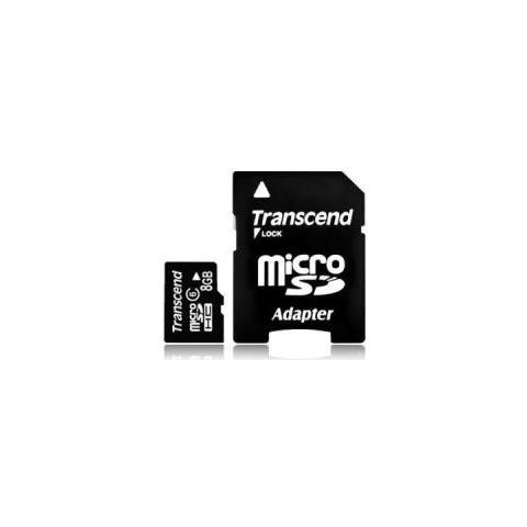 TRANSCEND MicroSDHC da 8 GB Class 4