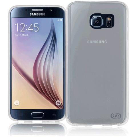 FONEX Inv Cover Ultra Sottile 0,2 mm in Morbido TPU per Galaxy S6 Edge Colore Nero Trasparente