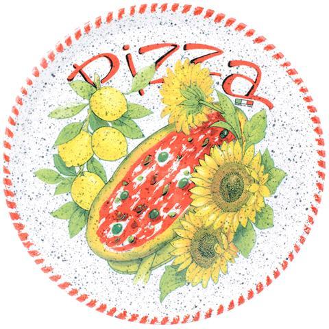 HOME Piatto Pizza Ceramica Cm34 Rosso Piatti Da Tavola