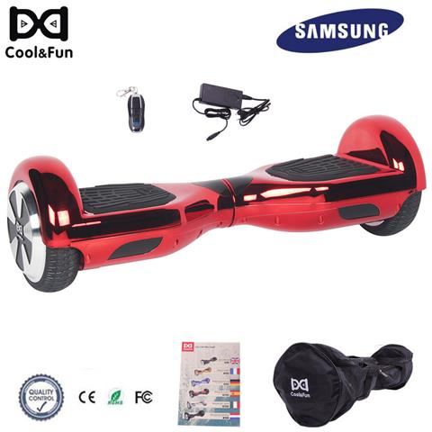 Image of 6.5'' Chrome Hoverboard Self Balance Smart Monopattino Elettric Scooter Rosso Christmas Gift