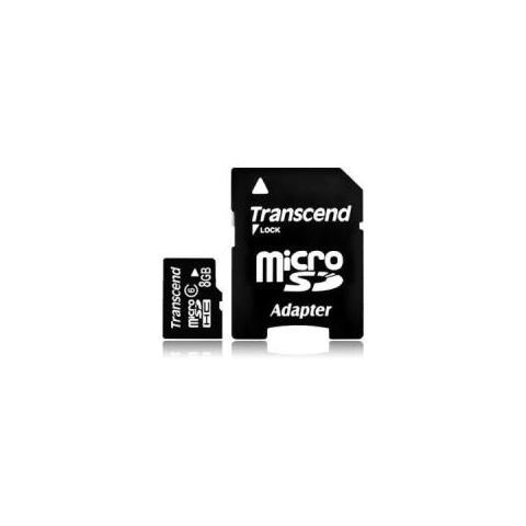 TRANSCEND Micro SD High Capacity (microSDHC) Transcend 8 GB 1 Scheda Classe 4