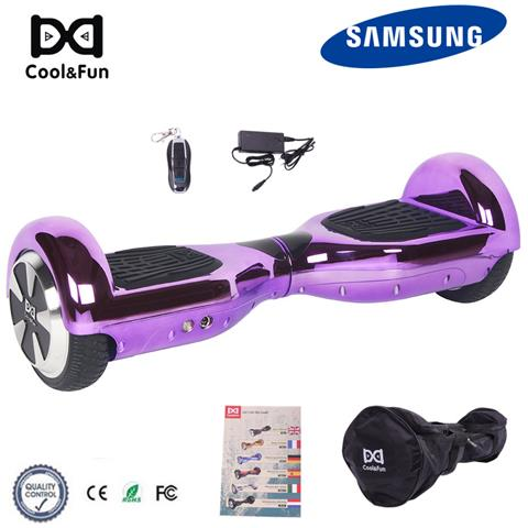 Image of 6.5'' Chrome Hoverboard Self Balance Smart Monopattino Elettric Scooter Porpora Christmas Gift