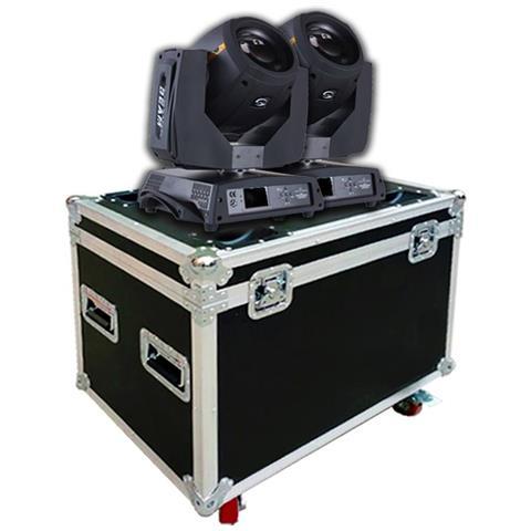 Image of 2 Teste Mobili Beam 230 Spot Led Rgb 30w Proiettore Discoteca Con Flight Case