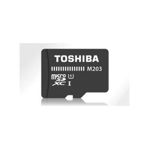 TOSHIBA microSDHC Class 10 16GB Exceria M203 R100 + Adapter