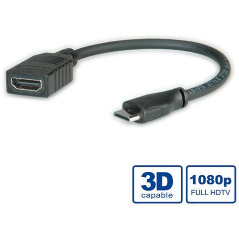 Roline 11.04.5586, 0,15m, HDMI, Mini-HDMI