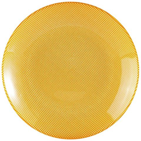 EXCELSA Piatto Frutta Diamond giallo centimetri 20