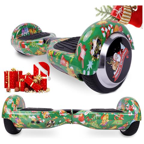 Image of 6.5'' Bluetooth Hoverboard Self Balance Smart Monopattino Elettric Scooter Verde Christmas Gift