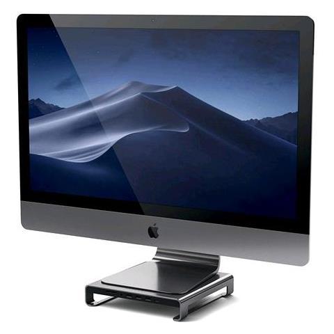 Image of Stand in Alluminio Tipo C iMac con Porta trasferimento Dati USB-C, USB 3.0, Slot schede Micro / SD e Jack Audio Compatible con iMac PRO e iMac 2017 (Grigio siderale)