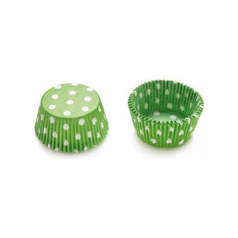 Decora Confezione 75 pirottini in carta pois verde 50 x 32mm