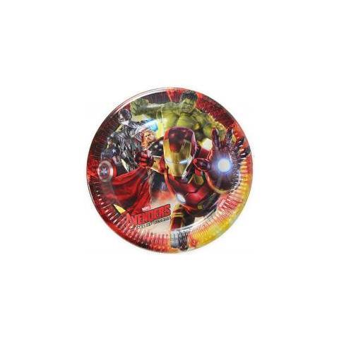 COMO GIOCHI Avengers - Age Of Ultron - 8 Piatti 23 Cm