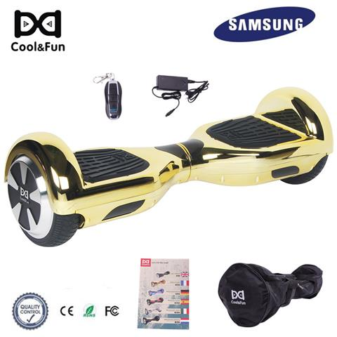 Image of 6.5'' Chrome Hoverboard Self Balance Smart Monopattino Elettric Scooter Oro Christmas Gift