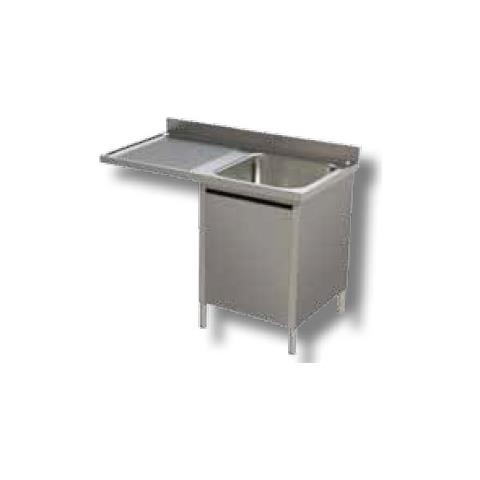 Lavello 140x70x85 Acciaio Inox 304 Armadiato Vano Lavastoviglie Cucina Rs5944