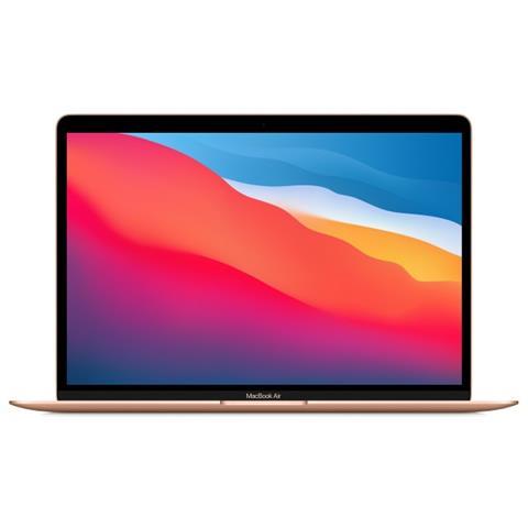 Image of MacBook Air Chip Apple M1 CPU 8-core, GPU 8-core e Neural Engine 16-core. SSD 512 GB, RAM 8 GB, MacOS Big Sur - Oro