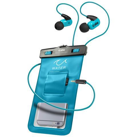 SBS Custodia Impermeabile Con Ingresso Jack 3,5 Mm Per Smartphone Fino A 5,5'' Ipx8