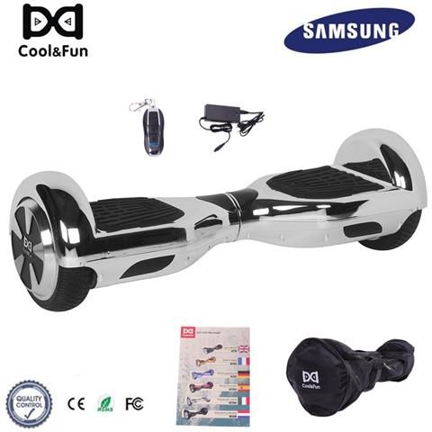Image of 6.5'' Chrome Hoverboard Self Balance Smart Monopattino Elettric Scooter Argento Christmas Gift