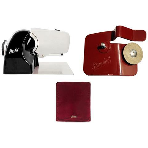 Image of Affettatrice Home Line 200 Nera + Cover Affettatrice Rossa + Accessorio Affilatoio