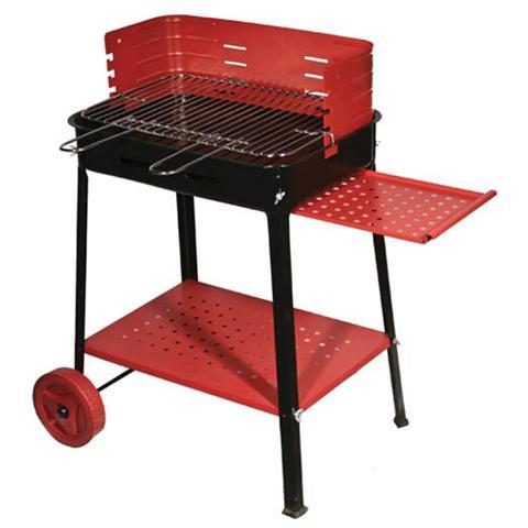 Barbecue a Legna o Carbone in Acciaio con Ruote