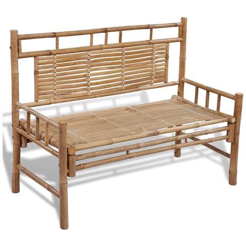 Image of Panchina da Giardino 120 cm in Bamb