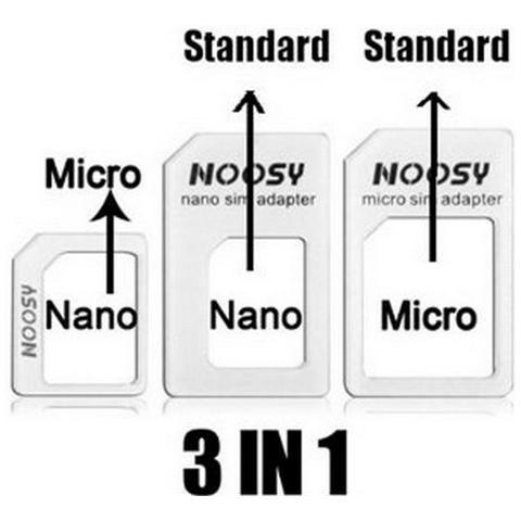 Linq Adattatore Micro Sim / Nano / Sim Per Cellulari Smartphone Tablet Conf. 3pz -num. Conf. 5