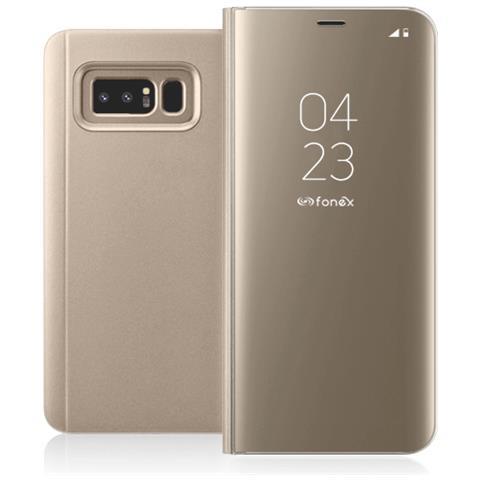 FONEX Flip Cover Custodia Sky per Galaxy Note 8 colore Oro