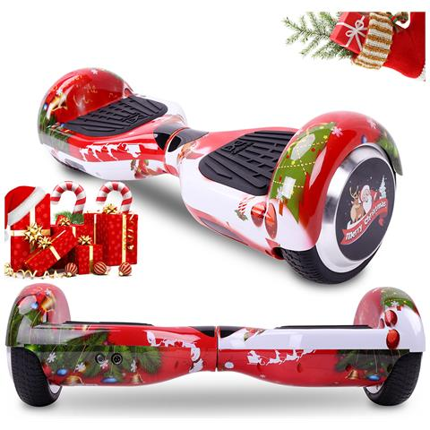 Image of 6.5'' Bluetooth Hoverboard Self Balance Smart Monopattino Elettric Scooter Rosso Christmas Gift